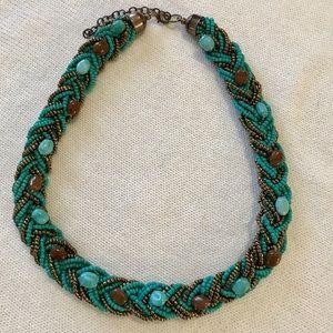 Beads & Stone Chunky Boho Necklace